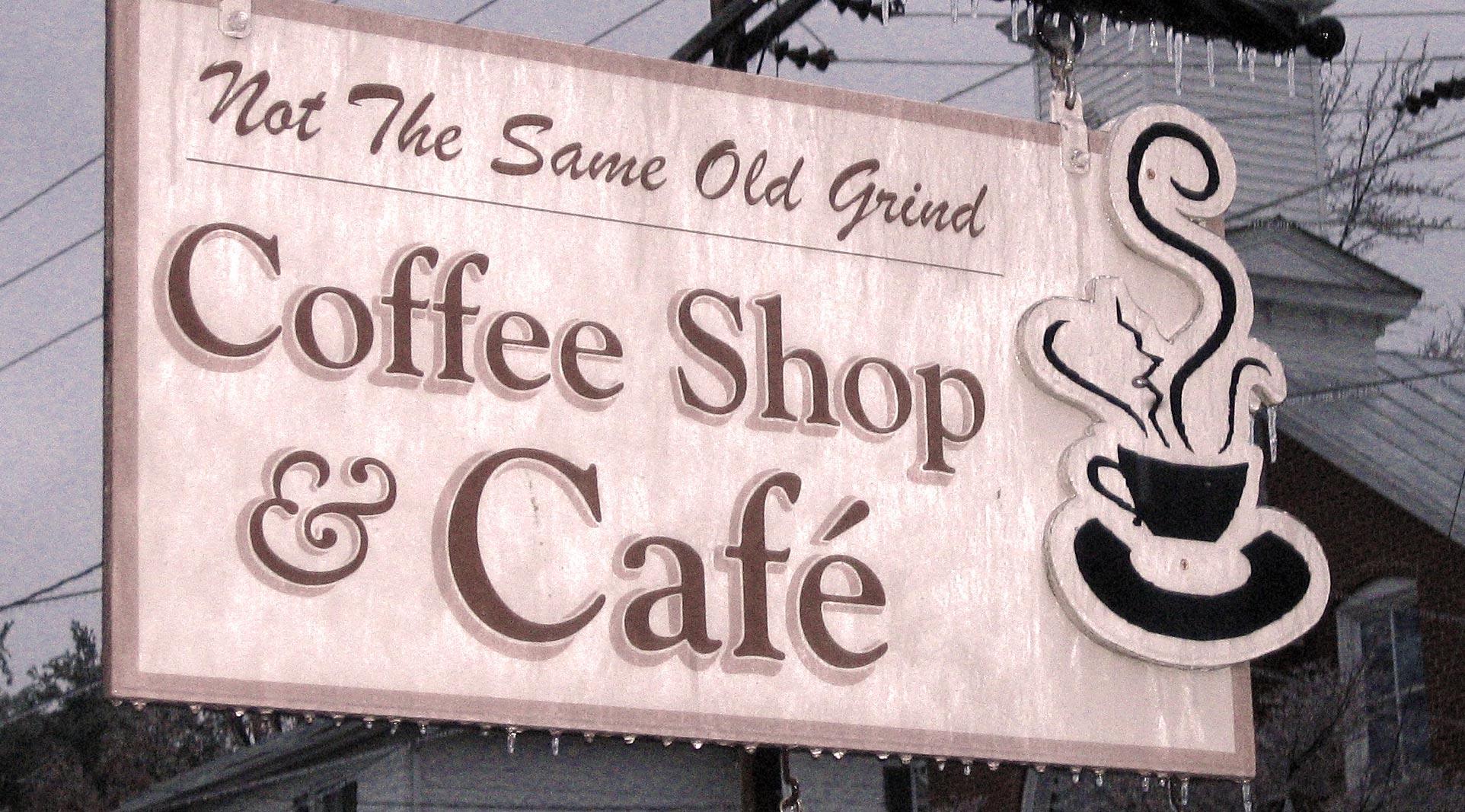 CafCaf Kaffee Blog, Kaffeeblog: Kaffee Schild