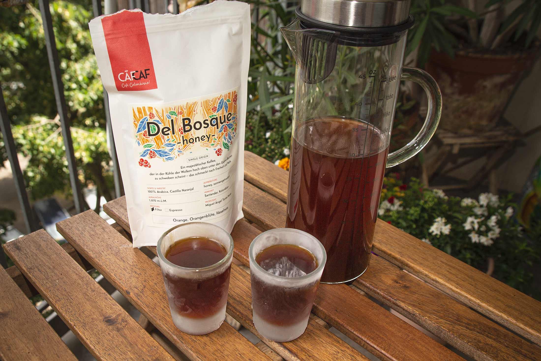 CafCaf Cold Brew Zubereitung Anleitung, selbst gemacht Zuhause