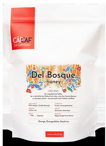 Kolubianischer Filterkaffee und Espresso Del Bosque honey