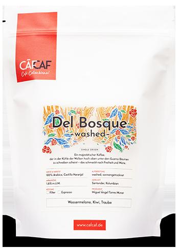 Kolubianischer Filterkaffee und Espresso Del Bosque