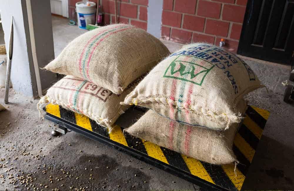 Kaffeeverkauf bei der Federación Nacional de Cafeteros