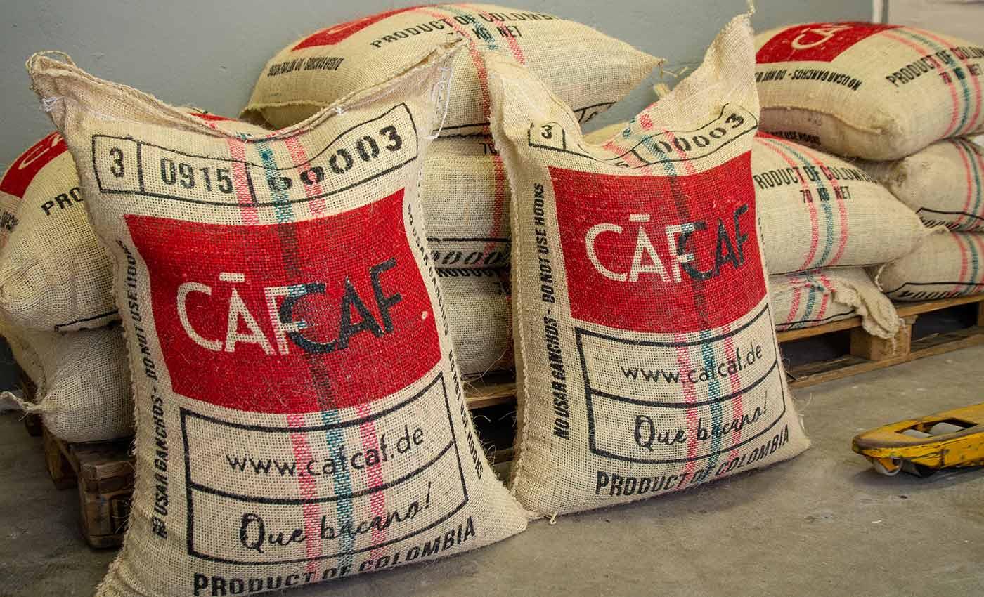 Unsere CafCaf Kaffeesäcke