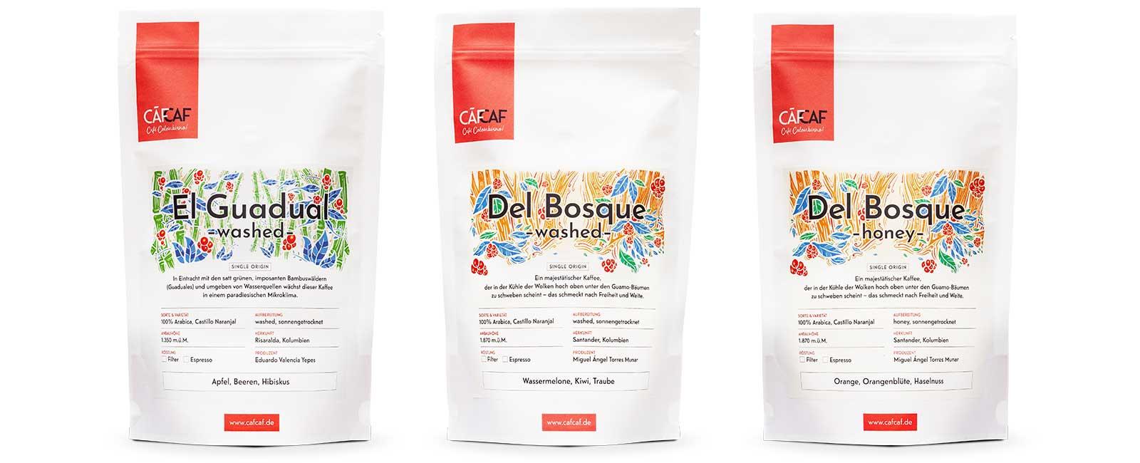 Unsere Kaffees: Espresso und Filterkaffee aus Kolumbien