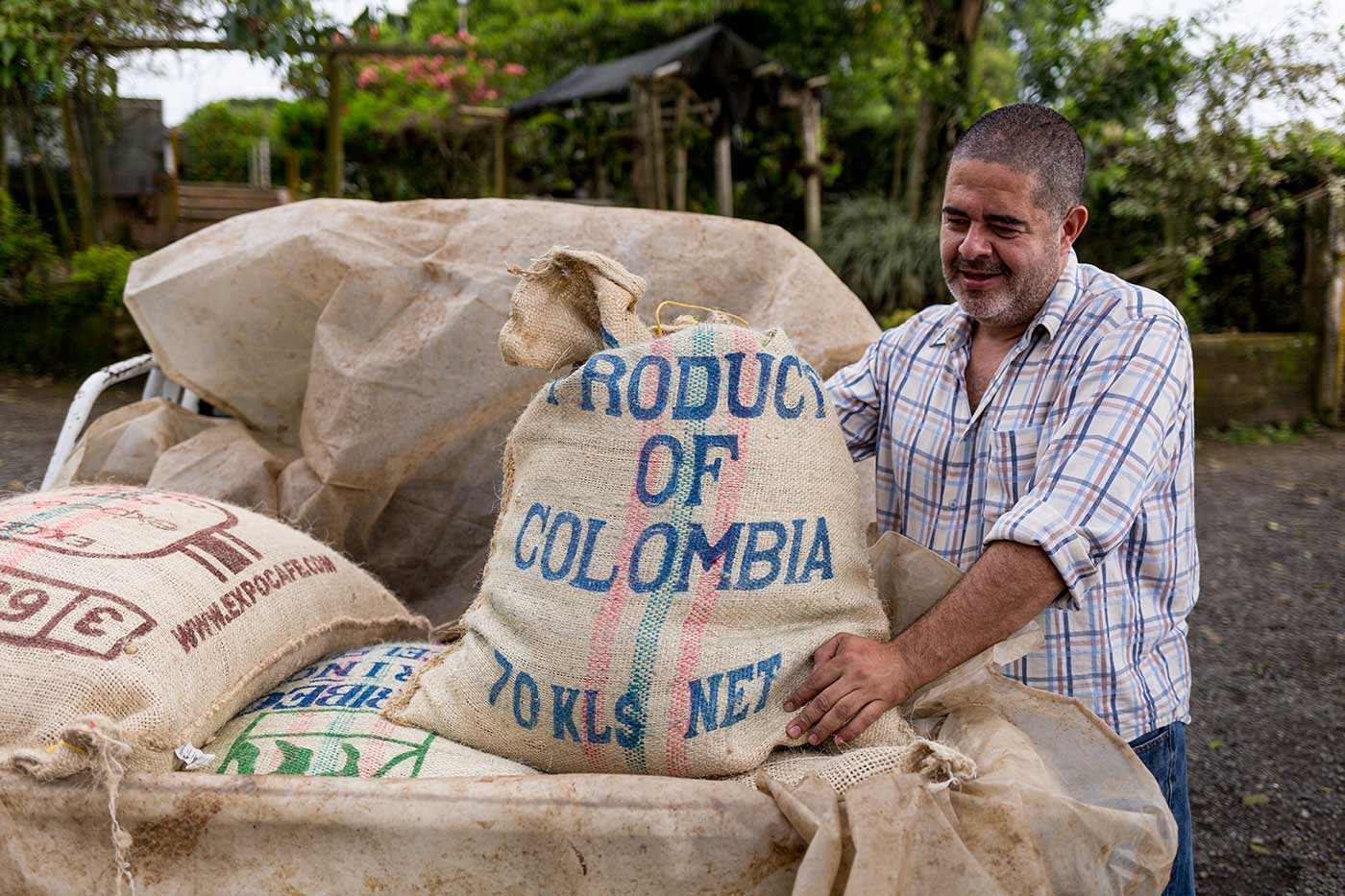 Kaffeeproduzent Eduardo Valencia