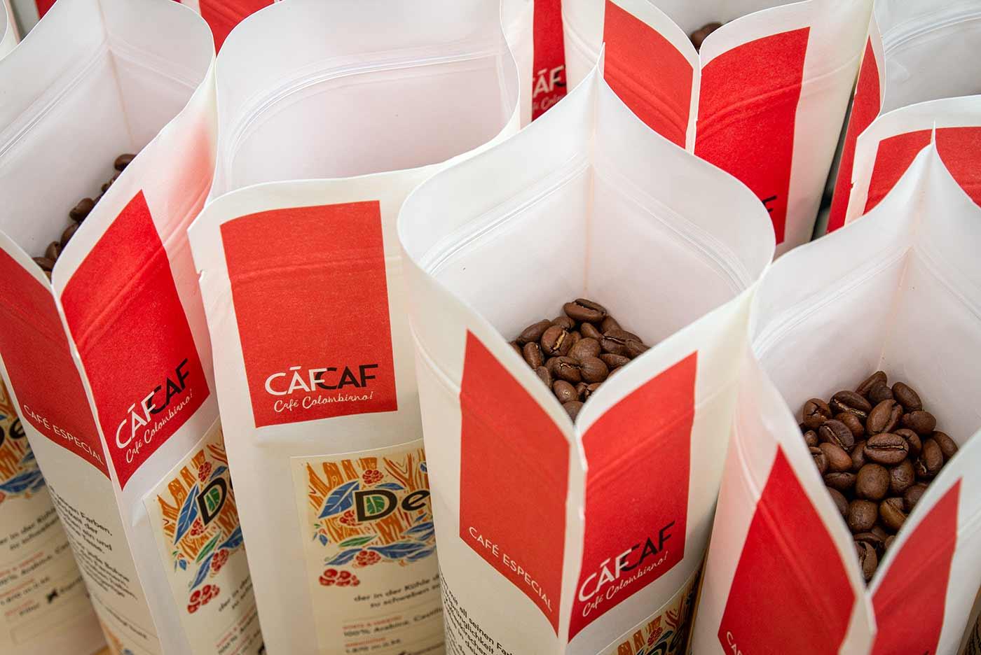 Aroma-dichte Kaffeeverpackungen bei CafCaf