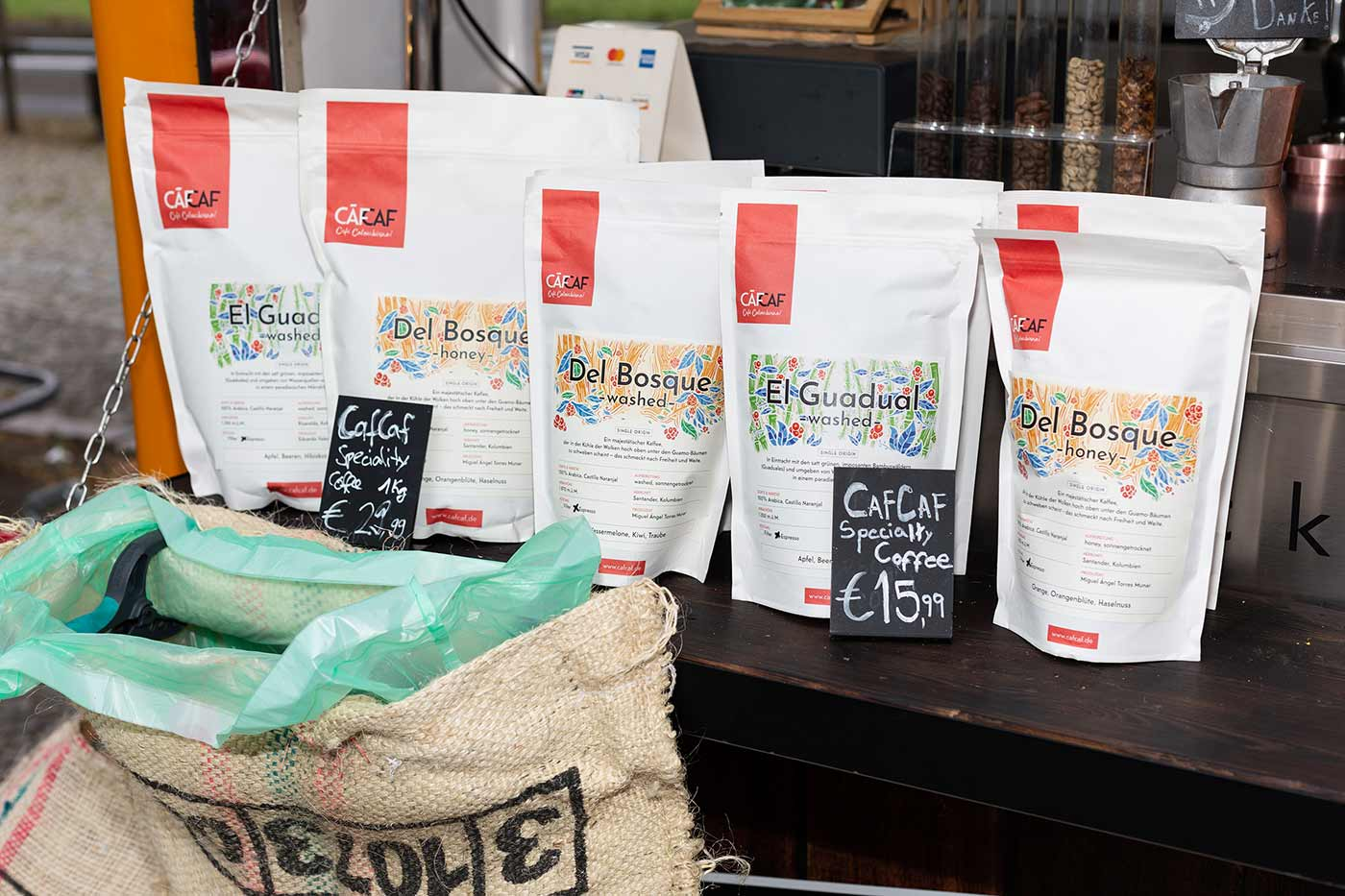 Kolumbianischer Kaffee für Messen und private Events