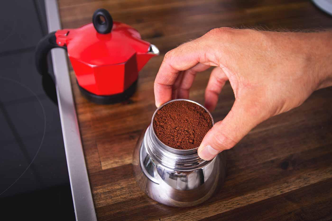 Schritt 2: Kaffeemenge und Mahlgrad