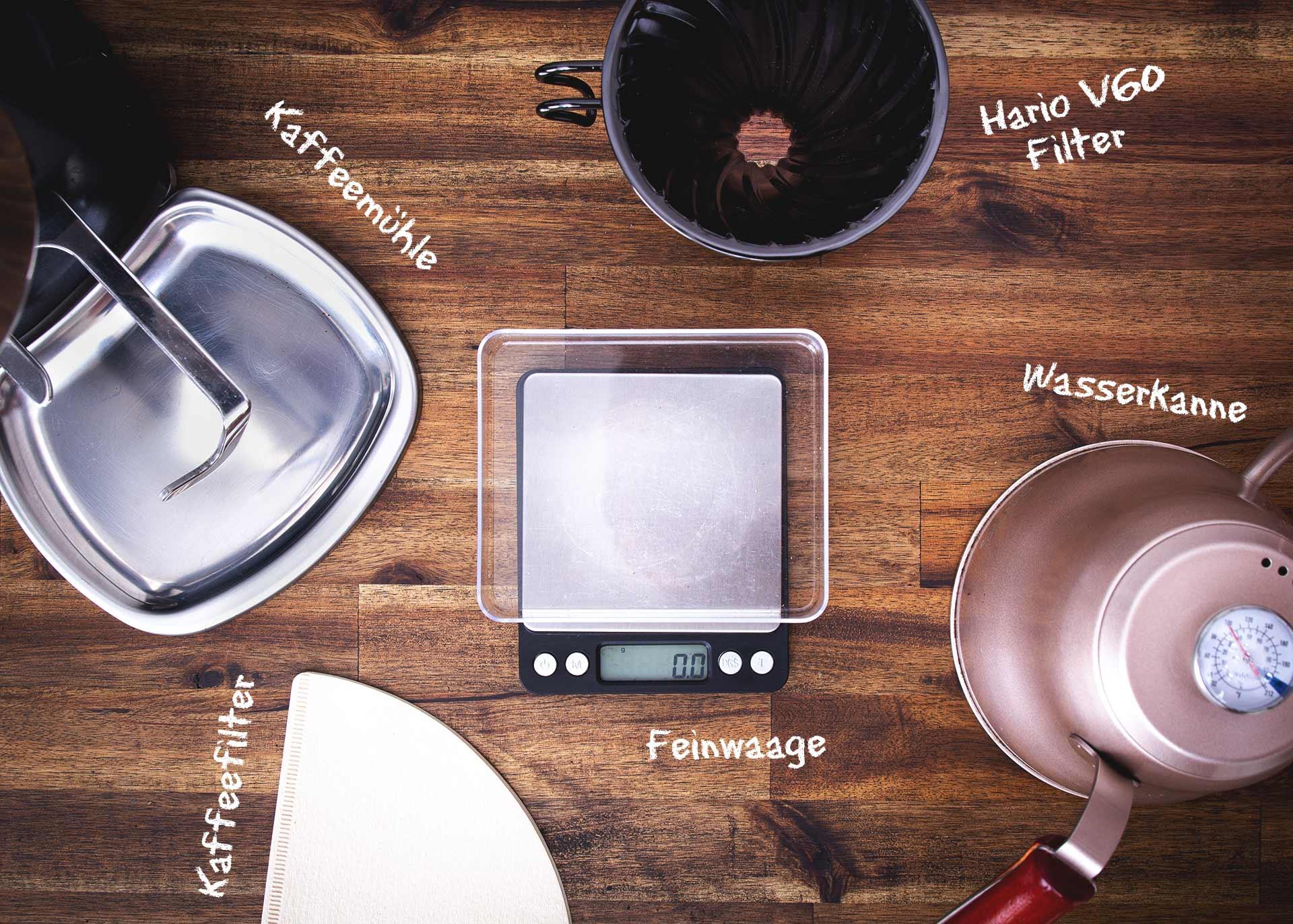 Guide: Kaffeezubereitung mit dem Hario V60 Handfilter. CafCaf.de – Kaffee & Blog, Kaffeeblog