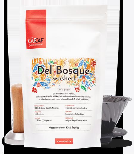 Kolumbianischer Kaffee Del Bosque washed als Filterkaffee und Espresso