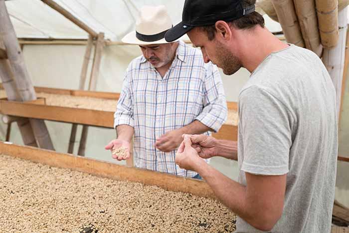 Direkthandel im Kaffee-Shop von CafCaf