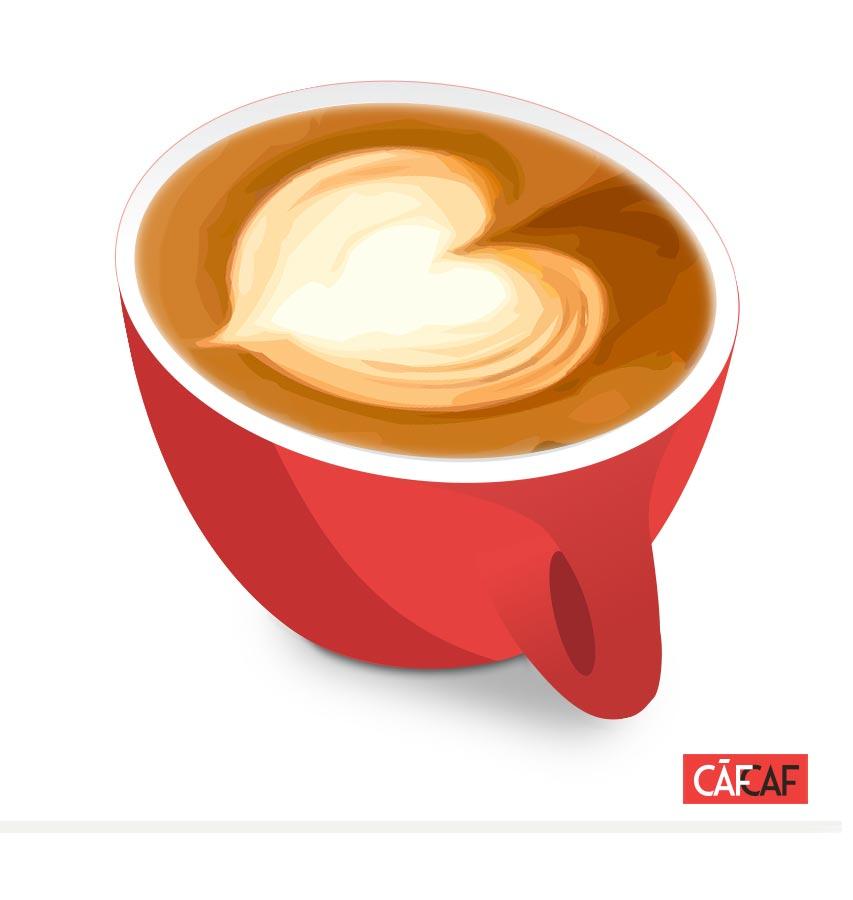 CafCaf Kaffee Blog, Kaffeeblog: Latteart Herz