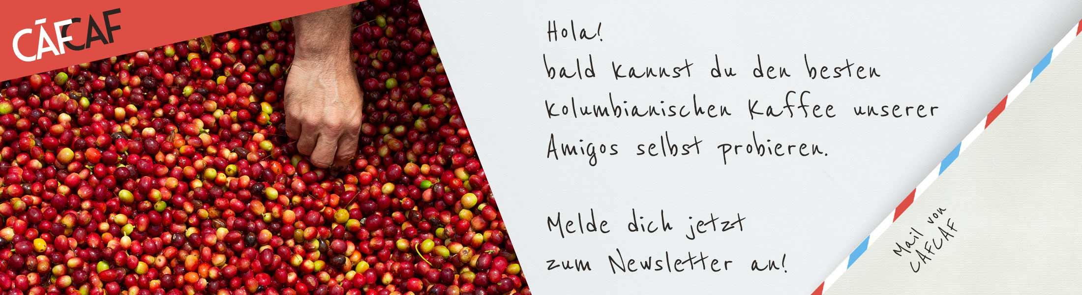 Kaffee Newsletter-Anmeldung