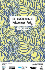 The barista league: Midsummer Party Logo